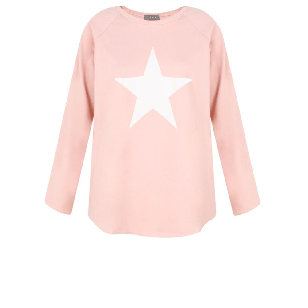 Chalk Tasha Star Top Pink / White