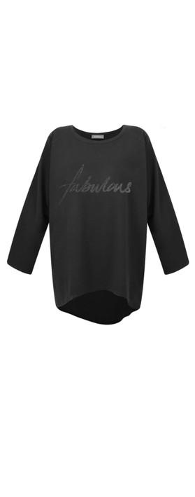 Chalk Robyn Fabulous Top Black / Black Glitter