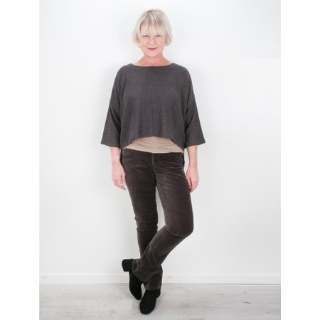 Thing Hannah Supersoft Fleece Rectangle Top - Grey