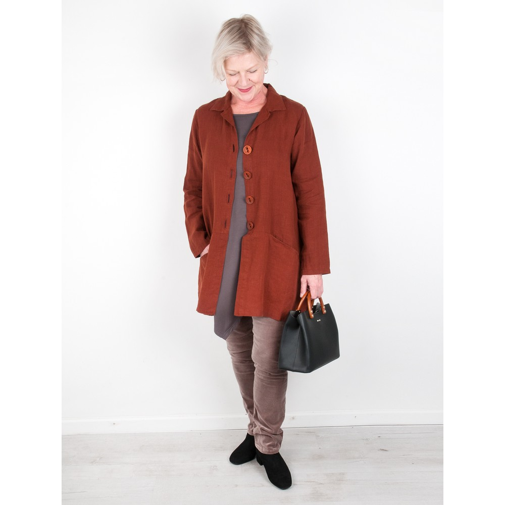 Thing Jet Pocket Winter Linen Jacket Ginger