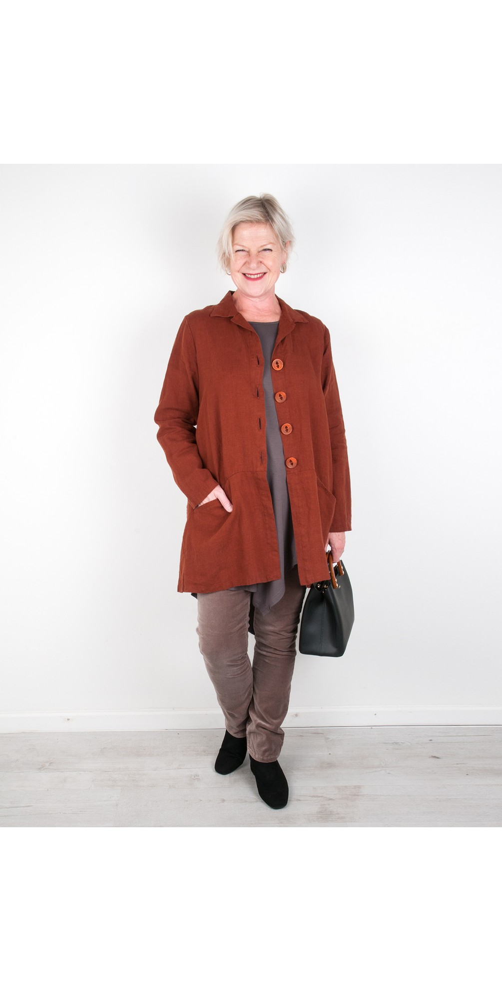Jet Pocket Winter Linen Jacket main image