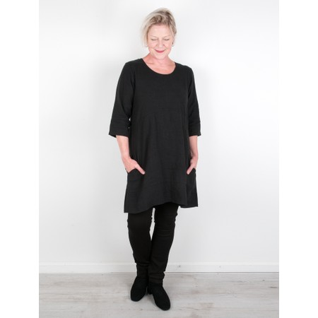 Thing Two Pocket Winter Linen Tunic - Black