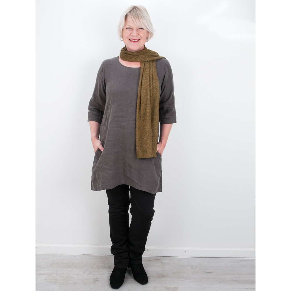 Thing Two Pocket Winter Linen Tunic Ash