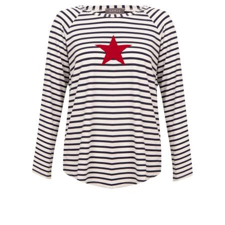 Chalk Tasha Stripe Small Star Top - Multicoloured