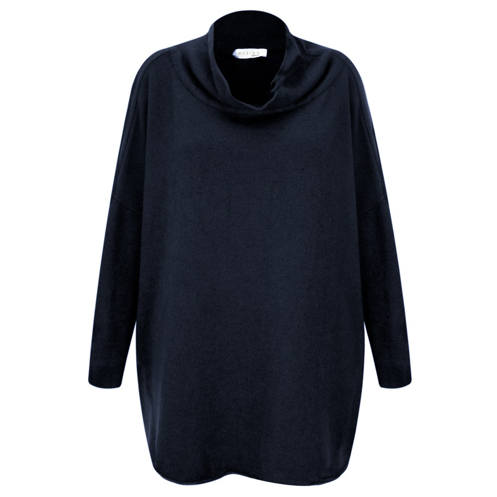 Amazing Woman  Vera Oversized Knit Jumper Navy