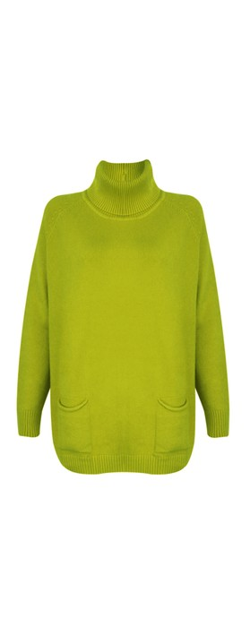Amazing Woman Anna Two Pocket Relaxed Fit Jumper Pear