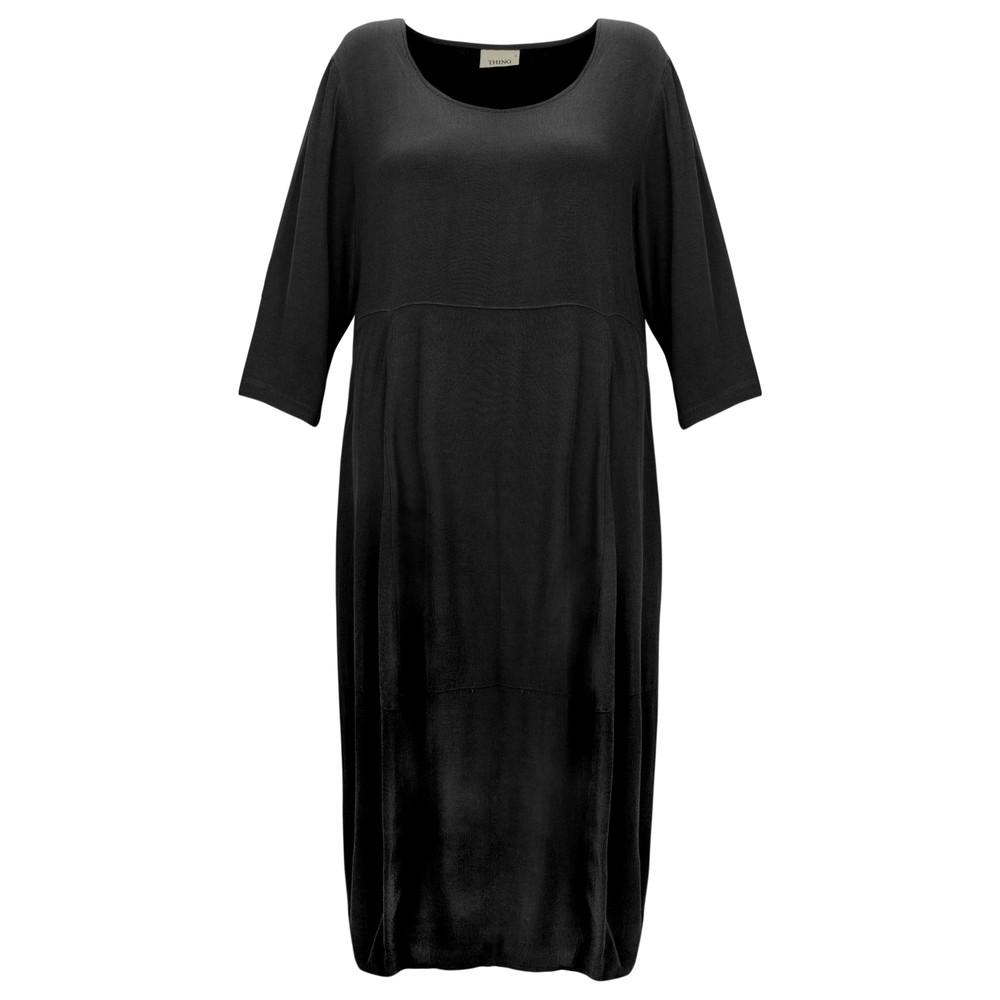 Thing Signature Drapey Viscose Bubble Dress Black