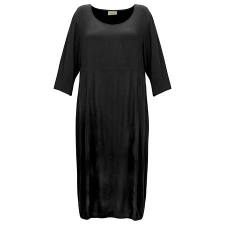 Thing Signature Drapey Viscose Bubble Dress - Black