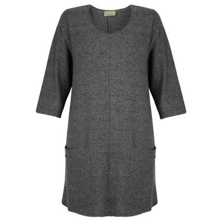 Thing Supersoft Fleece Pocket Tunic Top - Grey