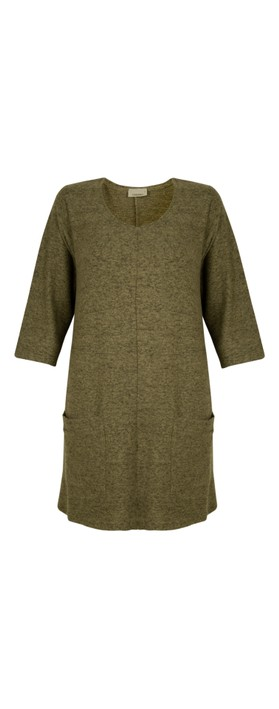 Thing Supersoft Fleece Pocket Tunic Top Herb