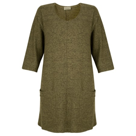 Thing Supersoft Fleece Pocket Tunic Top - Green