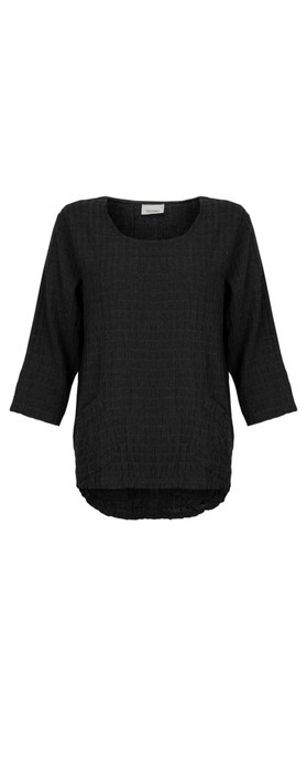 Thing 2 Pocket Textured Top Black