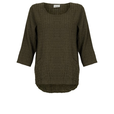 Thing 2 Pocket Textured Top - Green