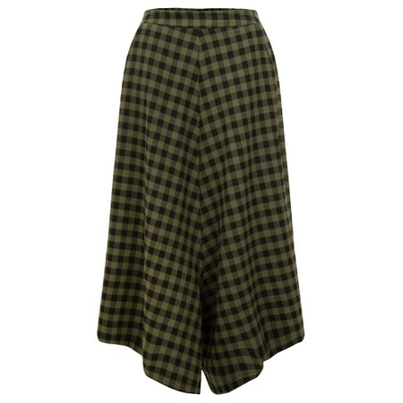 Mama B Lepre Checked Culottes - Green