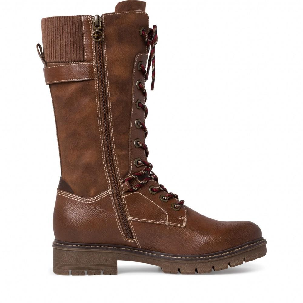 Tamaris Vina Tall Hiker boot Cognac