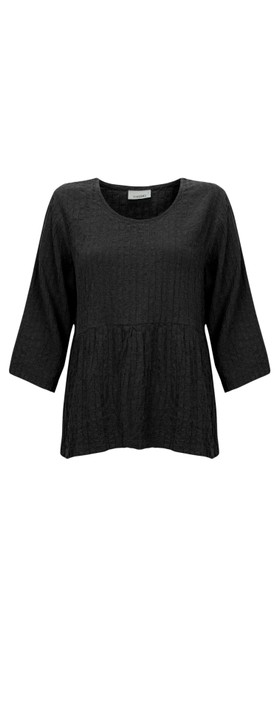 Thing Textured Smock Top Black