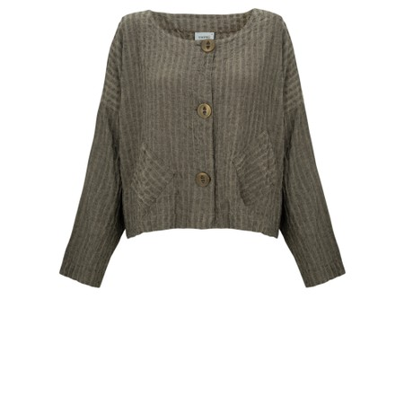 Thing Two Pocket Textured Jacket - Beige