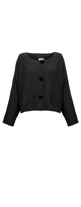 Thing Two Pocket Textured Jacket Black