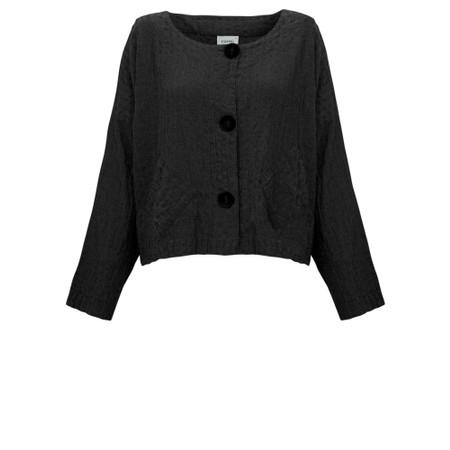 Thing Two Pocket Textured Jacket - Black