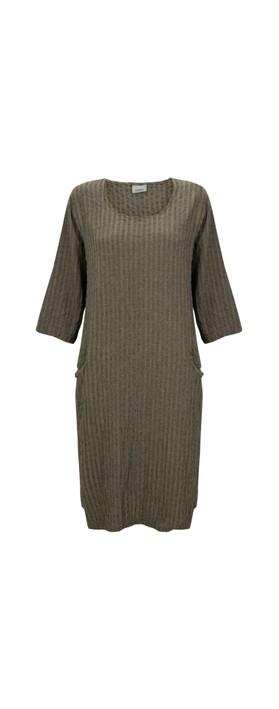 Thing Jet Pocket Textured Dress Sand