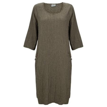 Thing Jet Pocket Textured Dress - Beige