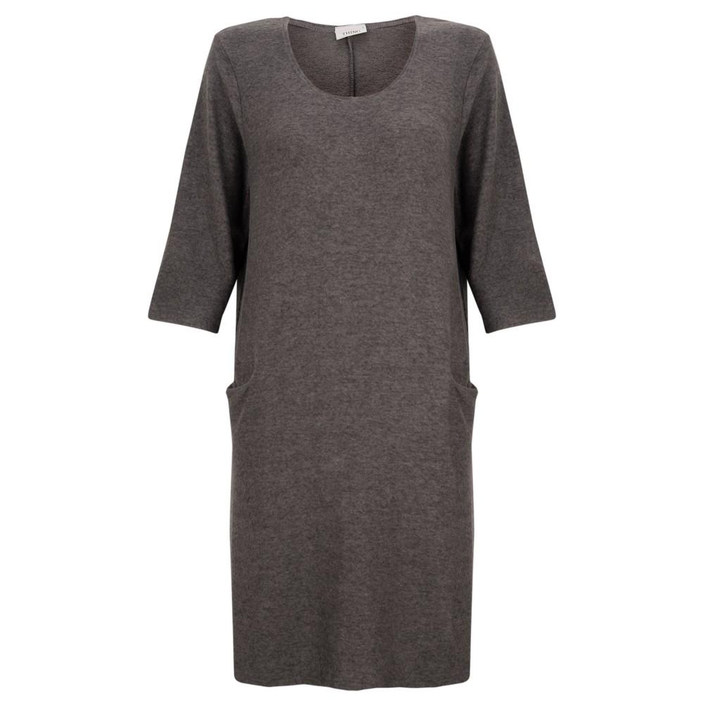 Thing Supersoft Fleece Jet Pocket Dress Ash