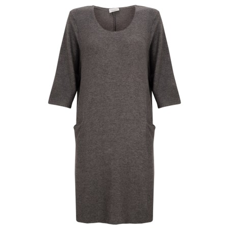 Thing Supersoft Fleece Jet Pocket Dress - Grey