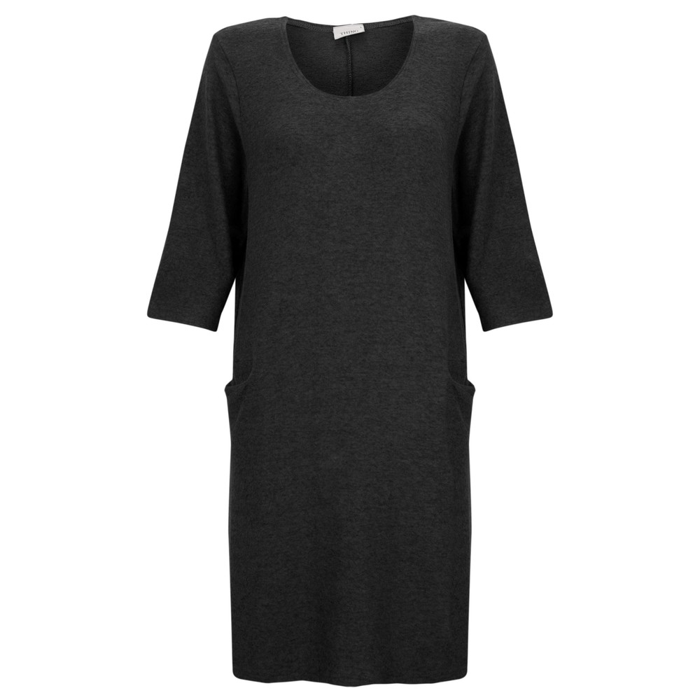 Thing Supersoft Fleece Jet Pocket Dress Black