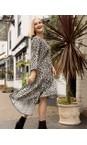 Amazing Woman  Charcoal / Khaki Pennie V Neck Prairie Dress