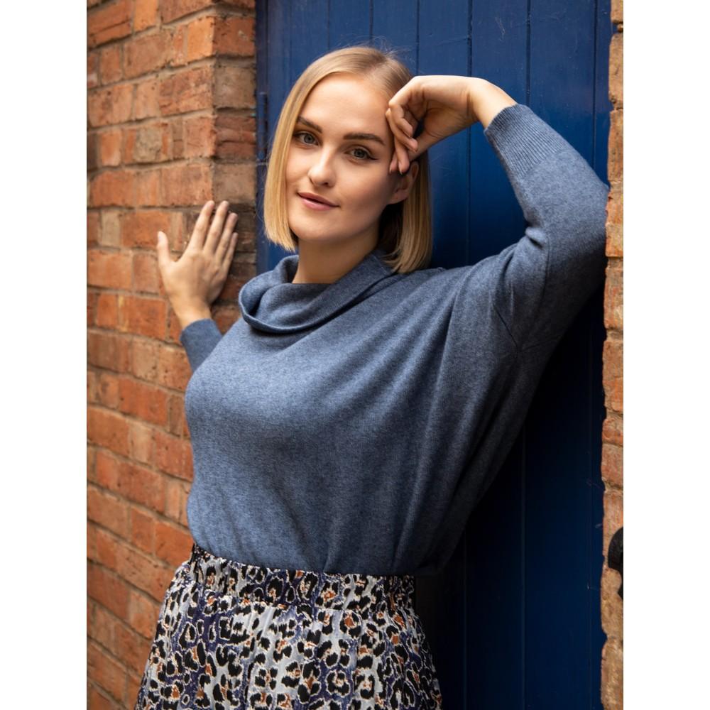 Amazing Woman Vera Oversized Knit Jumper Denim