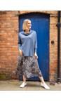 Amazing Woman Blue / Silver Santa Midi Skirt