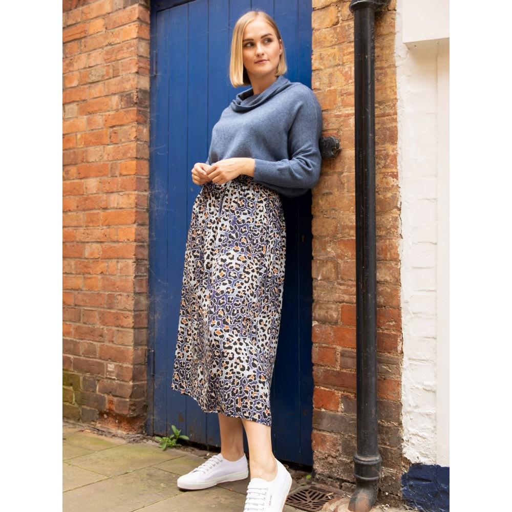 Amazing Woman Santa Midi Skirt Blue / Silver