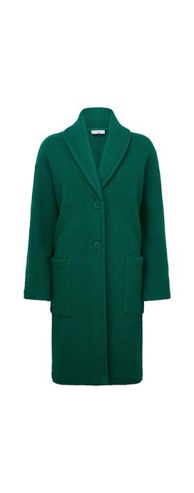 Adini Marlow Wool Coat Emerald