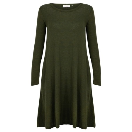Foil Pheonix Rising Swing Dress - Green
