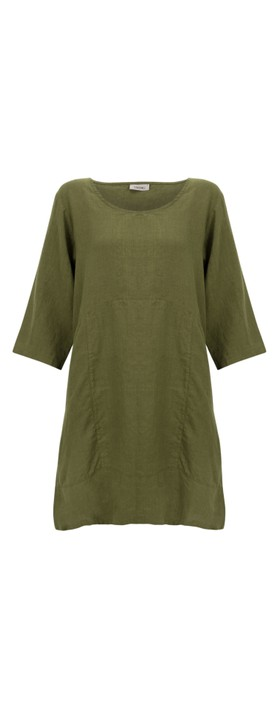 Thing Two Pocket Winter Linen Tunic Herb