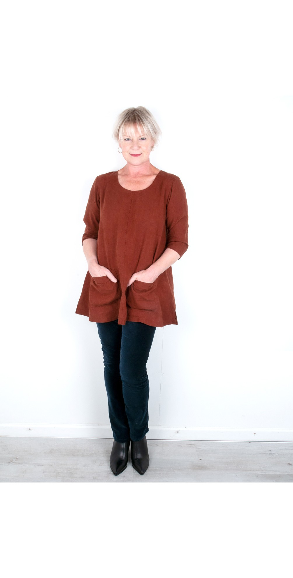 Two Pocket Winter Linen Tunic main image