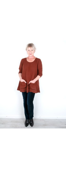 Thing Two Pocket Winter Linen Tunic Ginger