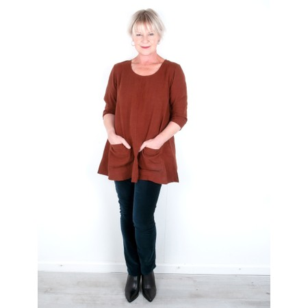 Thing Two Pocket Winter Linen Tunic - Brown