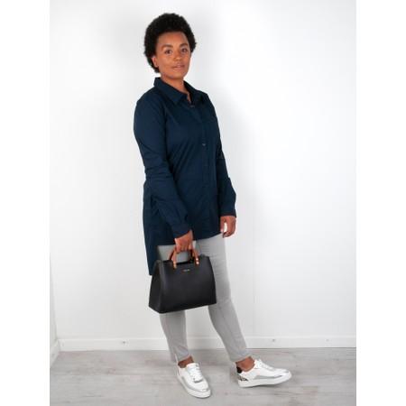 Amazing Woman  Lina Long Back Classic Shirt - Blue
