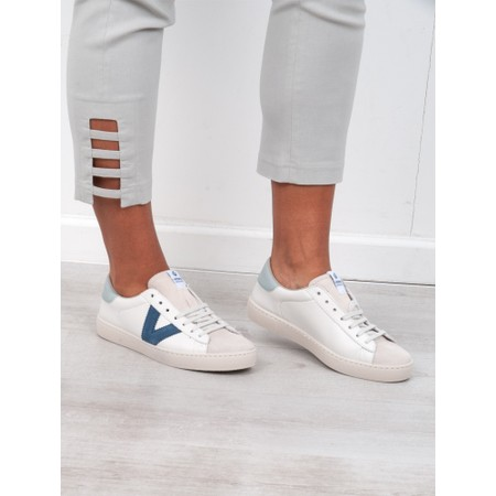 Victoria Shoes Berlin Classic Victoria V Leather Trainer - Blue