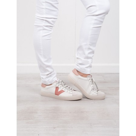 Victoria Shoes Berlin Classic Victoria V Leather Trainer - Pink