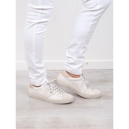 Victoria Shoes Berlin Classic Victoria V Leather Trainer - White