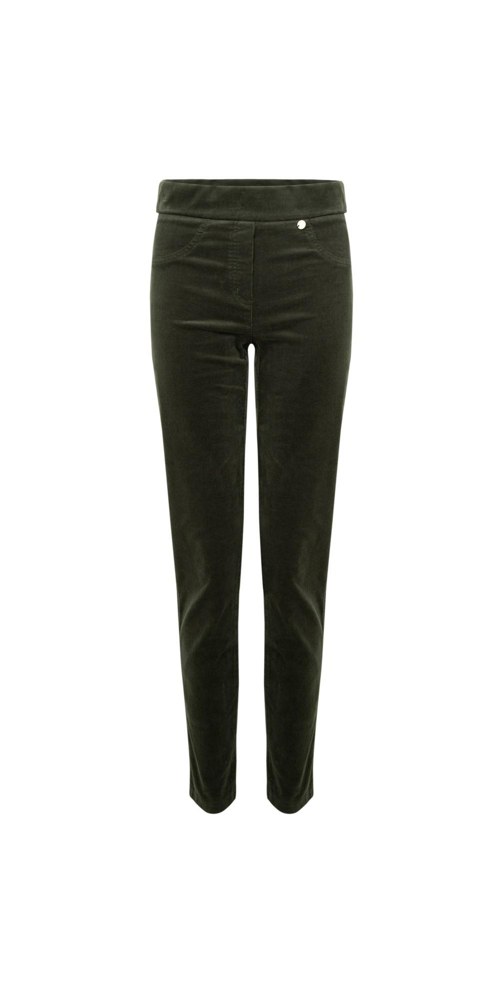 Rose Green NeedleCord Slimfit Trousers main image