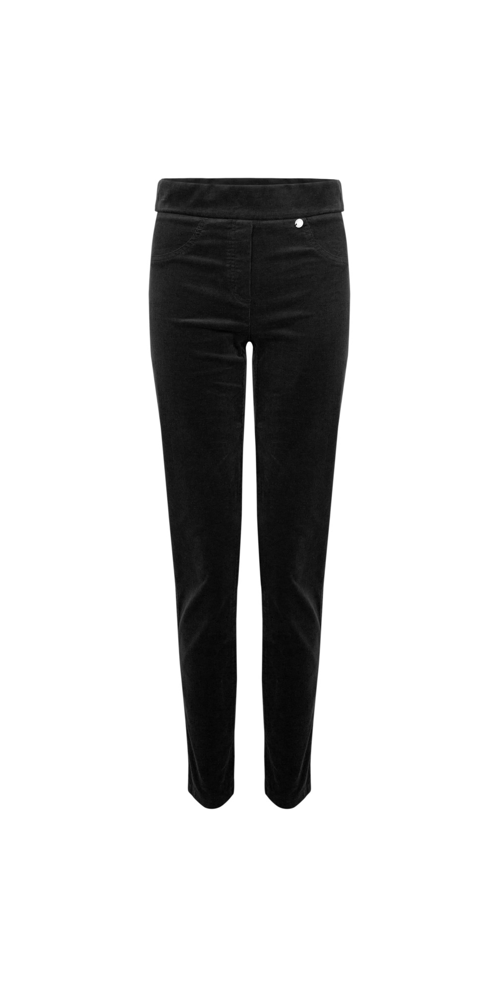 Rose Black NeedleCord Slimfit Trousers main image