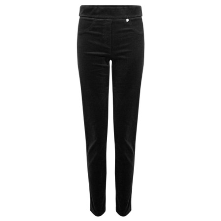 Robell  Rose Cord Slimfit Trousers - Black