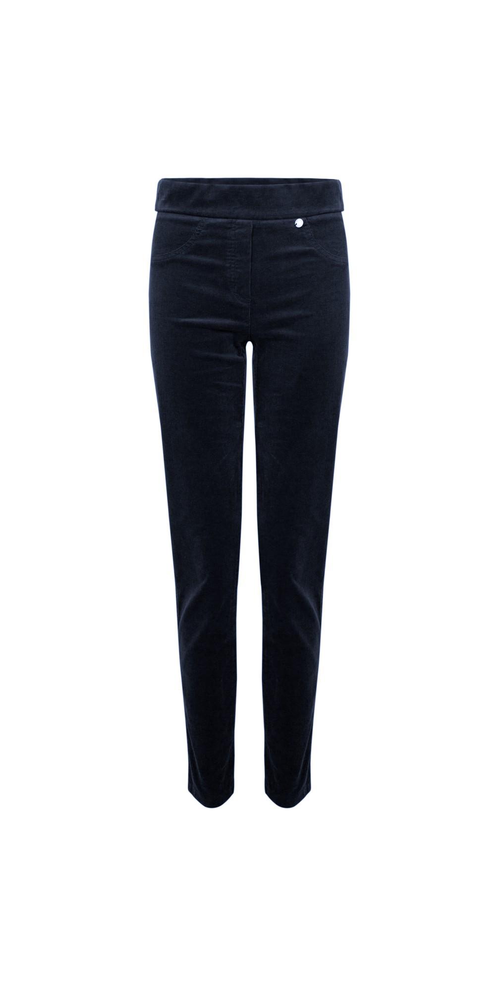 Rose Navy NeedleCord Slimfit Trousers main image