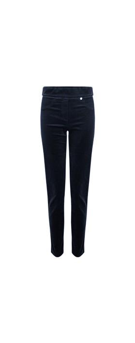 Robell Rose Navy NeedleCord Slimfit Trousers Navy 691