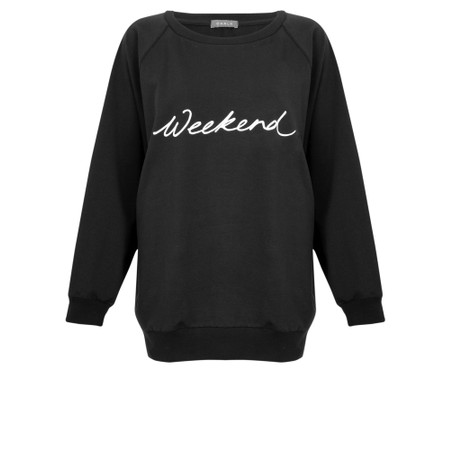 Chalk Nancy Weekend Oversized Comfy Sweatshirt - Beige