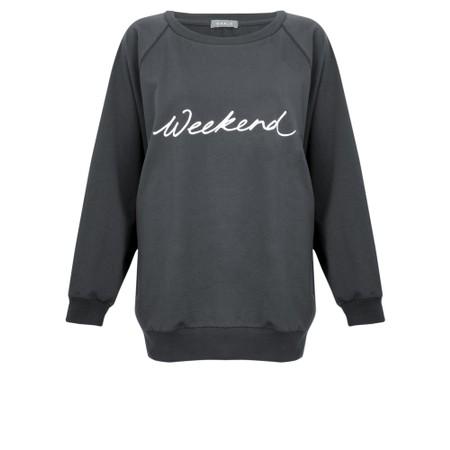 Chalk Nancy Weekend Oversized Comfy Sweatshirt - Grey
