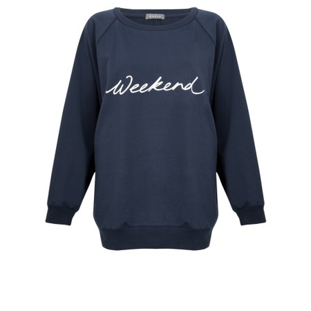 Chalk Nancy Weekend Oversized Comfy Sweatshirt - Blue